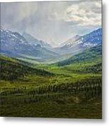 Storm Clouds Over The Klondike Valley Metal Print