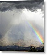 Storm Over The Organ Mountains Metal Print