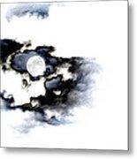 Stormy Moon Metal Print