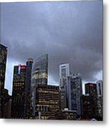 Stormy Singapore Metal Print