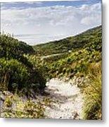 Strahan Coast Landscape Winding To The Ocean Metal Print