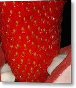 Strawberry Lips Metal Print by Joann Vitali