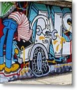 Street Art Valparaiso Chile 15 Metal Print