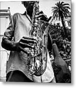 Street Jazz On Display 2 Metal Print by Andy Crawford