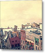 Streets Of Old Quebec City Metal Print