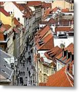 Streets Of Prague Metal Print