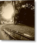 Strolling Through The Park Metal Print