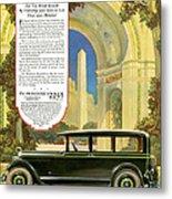 Studebaker Big Six - Vintage Car Poster Metal Print