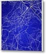 Stuttgart Street Map - Stuttgart Germany Road Map Art On Colored Metal Print