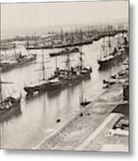 Suez Canal Port Said Metal Print