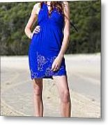 Summer Fashion Style Metal Print
