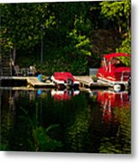 Summer Morning On Muskoka River Metal Print