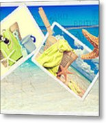 Summer Postcards Metal Print by Amanda Elwell