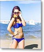Sun Sand And Sea Leisure Metal Print