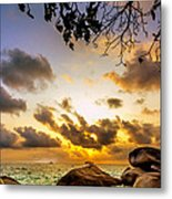 Sun Sand Sea And Rocks Metal Print