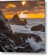 Sun Sets On Patrick's Point Metal Print