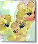 Sunlit Poppies I Metal Print