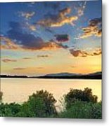 Sunrays At The Lake Metal Print
