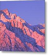 Sunrise At 14,494 Feet, Mount Whitney Metal Print