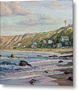 Sunrise At Crystal Cove Cottages Metal Print