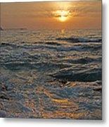 Sunrise At Portscatho Metal Print