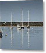 Sunrise At Red Brook Harbor Metal Print