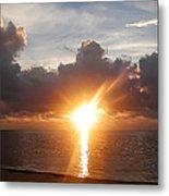 Sunrise In Cancun Metal Print