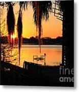 Sunrise On Lake Weir - 4 Metal Print