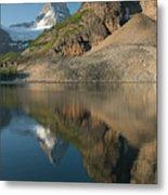 Sunrise On Mount Assiniboine In  Mount Metal Print