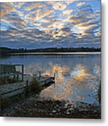 Sunrise On Silver Lake Metal Print