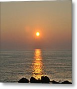Sunrise On The Ocean Metal Print