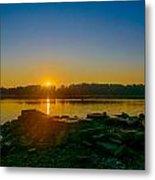 Sunrise On The River Metal Print