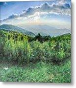 Sunrise Over Blue Ridge Mountains Scenic Overlook  Metal Print