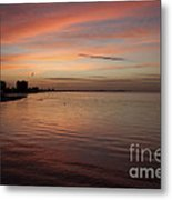 Sunrise Over Fort Myers Beach Photo Metal Print