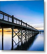 Sunrise Under The Boardwalk Metal Print