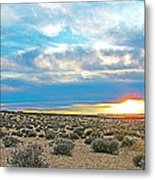 Sunset At Alstrom Point In Glen Canyon National Recreation Area-utah Metal Print