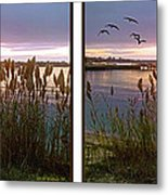Sunset At Fort Smallwood Metal Print