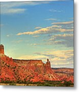 Sunset At Ghost Ranch Metal Print
