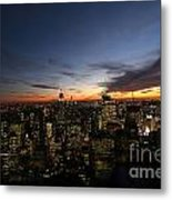 Sunset From Top Of The Rock Metal Print