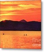Sunset In The Balaton Lake Metal Print