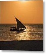 Sunset In Zanzibar Metal Print