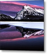 Sunset Mount Rundle Metal Print