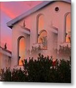 Sunset On Houses Metal Print by Augusta Stylianou