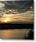 sunset over Aboda Klint lake Metal Print