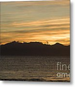 Sunset Over Arran Metal Print