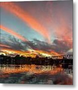 Sunset Over New Hope Metal Print