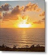 Sunset Over The Pacific Ocean, Torrey Metal Print