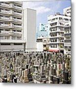 Super Dense Cemetery In Tokyo Metal Print