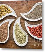 Superfood Collection In Teardrop Bowls Metal Print