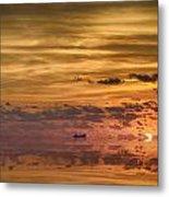 Supertanker Sunset V6 Metal Print